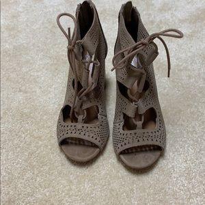 Crown Vintage Lace Bootie Heels